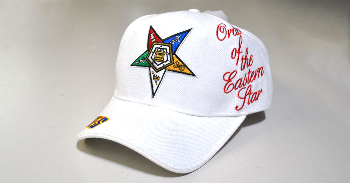 Order Of The Eastern Star Cap White