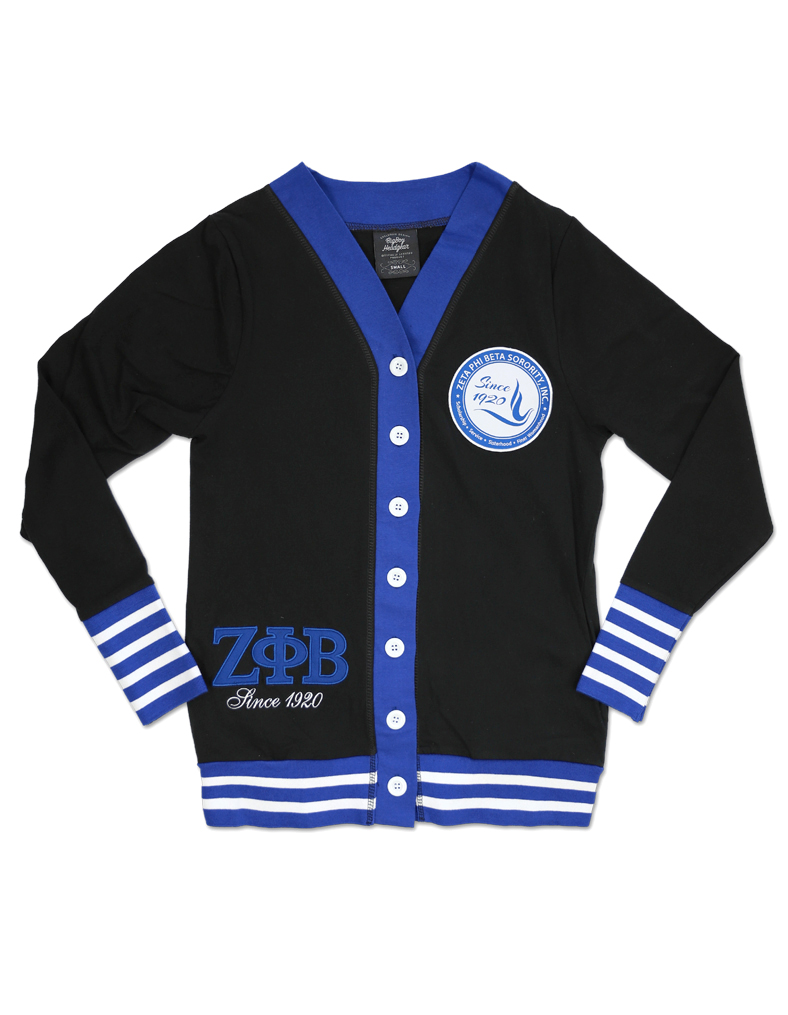Zeta Phi Beta apparel Cardigan black