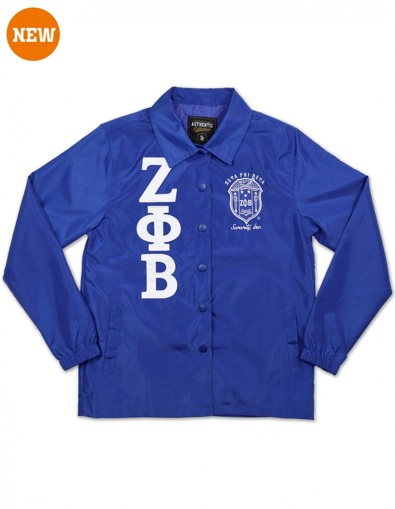 Zeta Phi Beta Apparel Coach Line Jacket