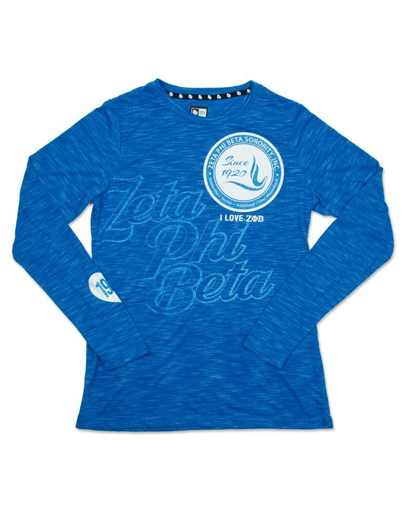 Zeta Phi Beta Apparel - Long sleeve t shirt