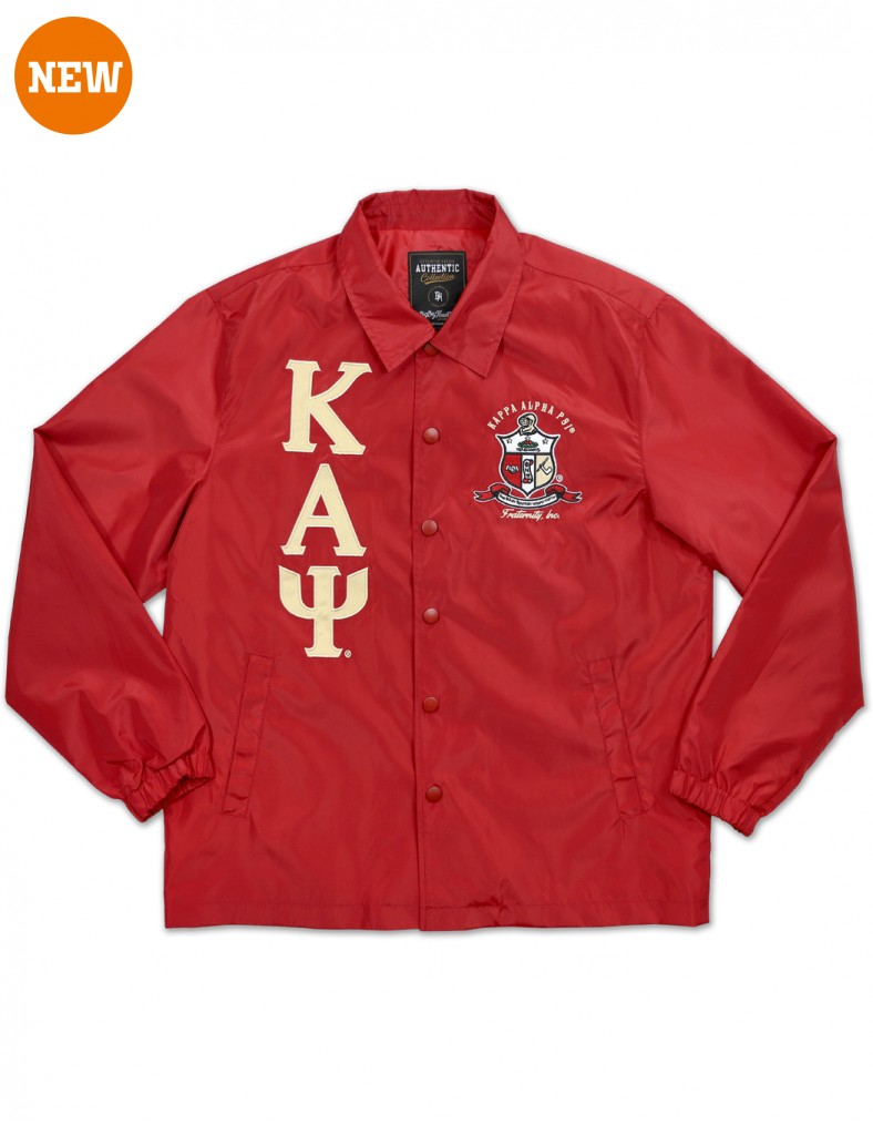Kappa Alpha Psi apparel Coach line Jacket