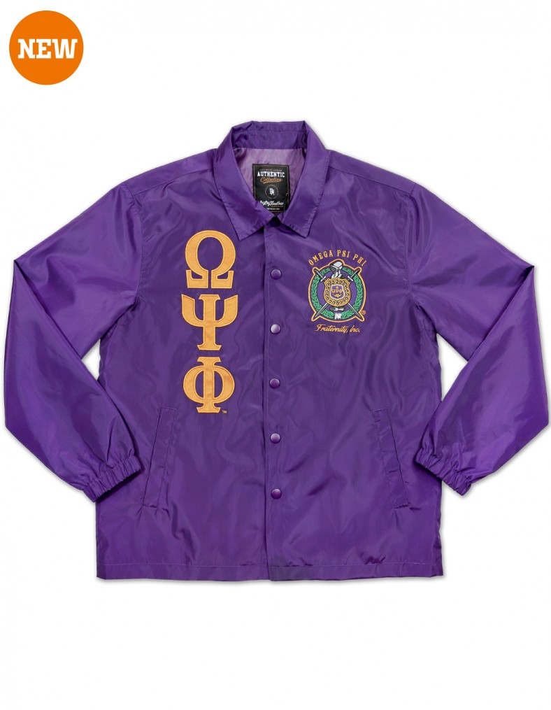 Omega Psi Phi apparel Coach Line Jacket