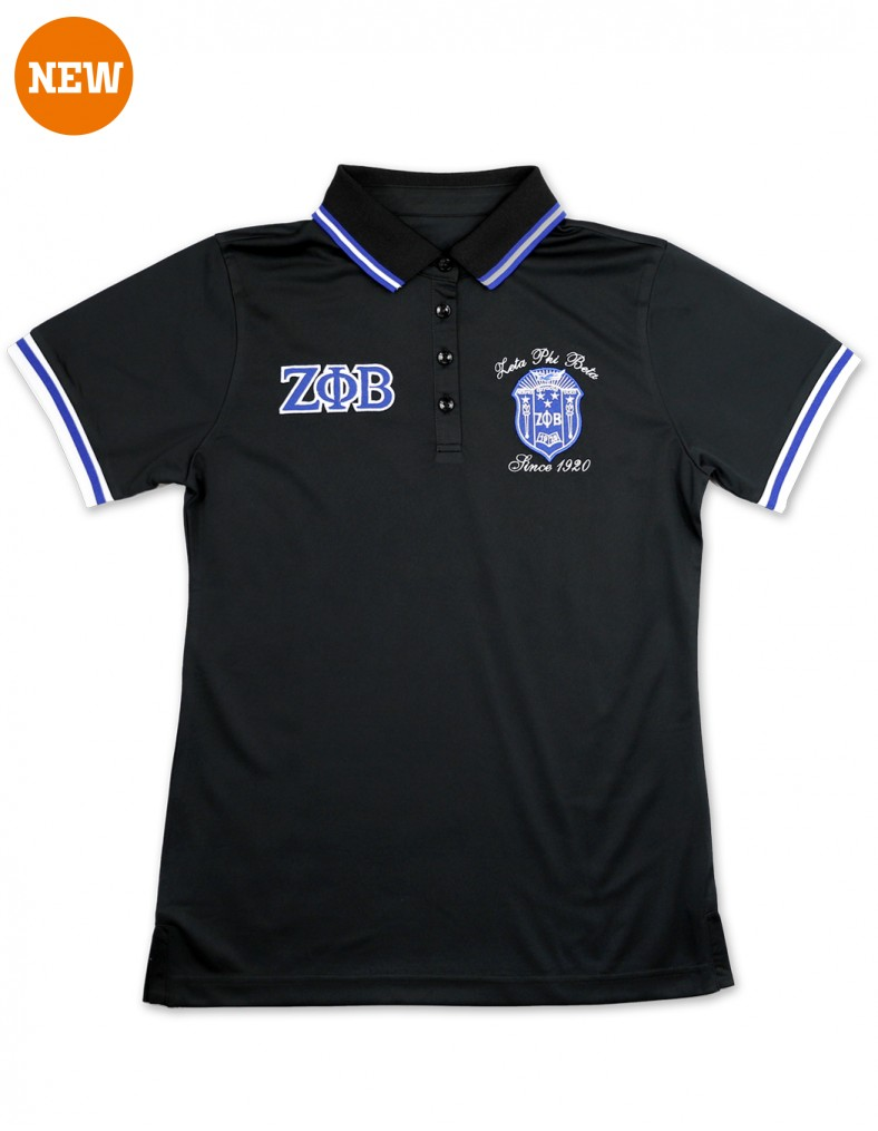 Zeta Phi Beta Apparel polo shirt