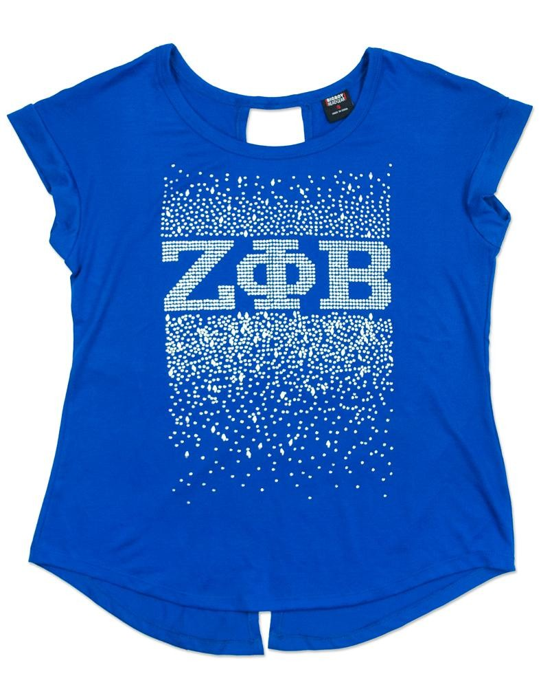 Zeta Phi Beta Apparel - rhinestone T Shirt