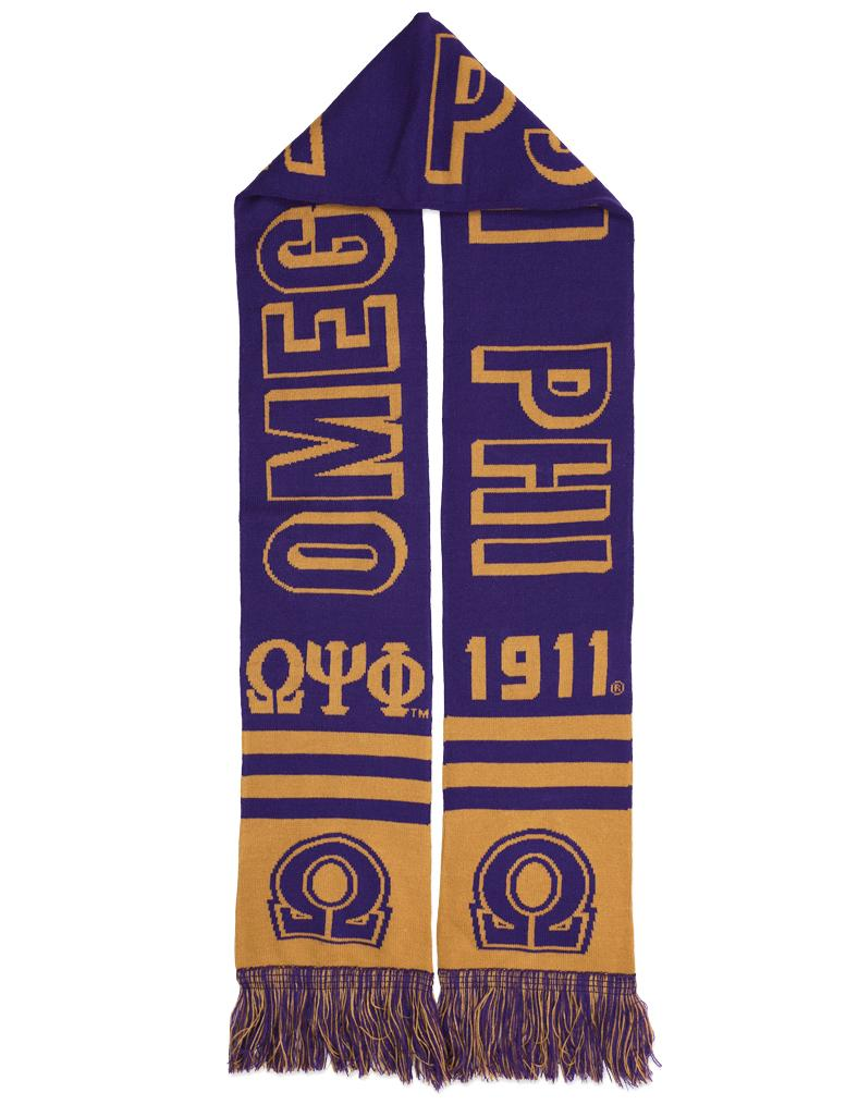 Omega Psi Phi apparel and clothing scarf