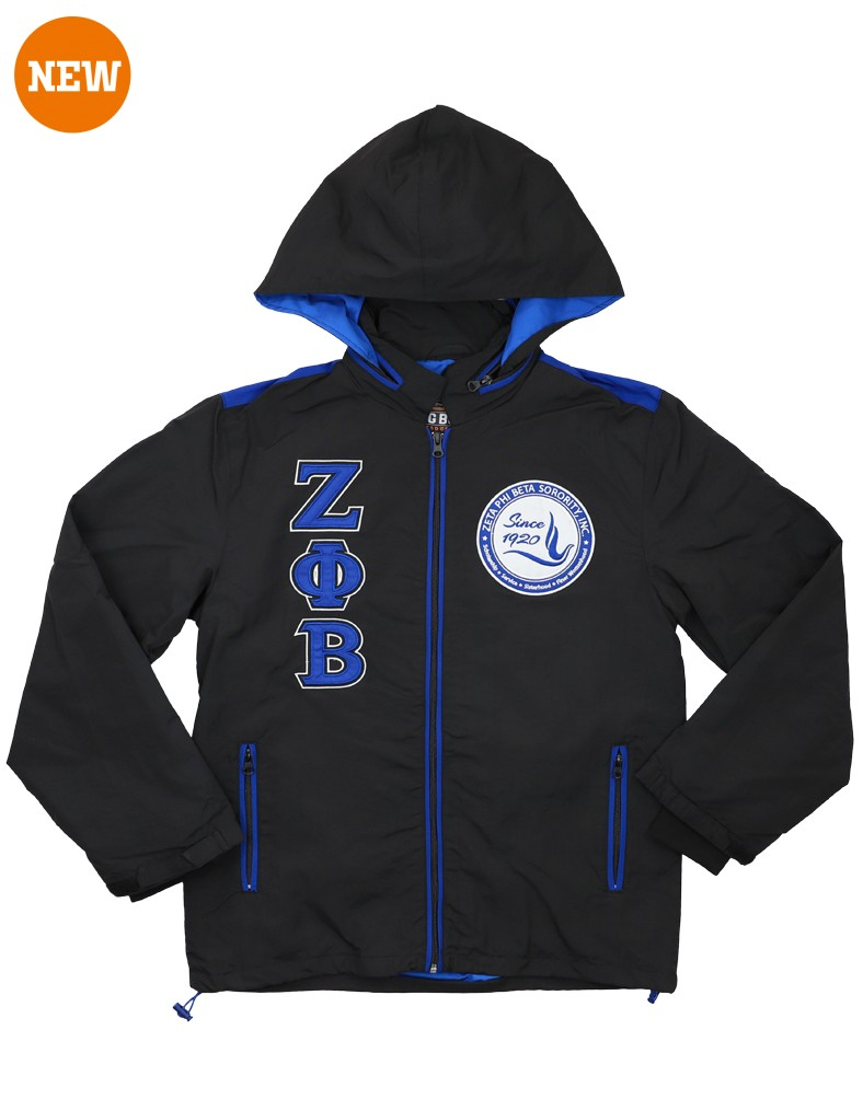 Zeta Phi Beta Apparel - windbreaker black