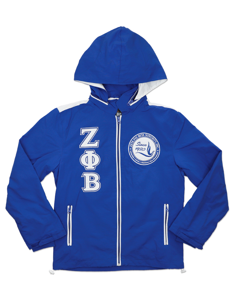 Zeta Phi Beta Apparel - windbreaker blue