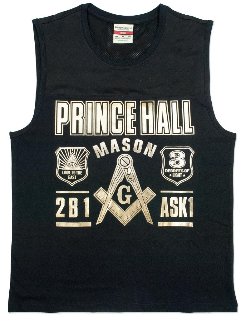 Freemason apparel Sleeveless T shirt Prince hall