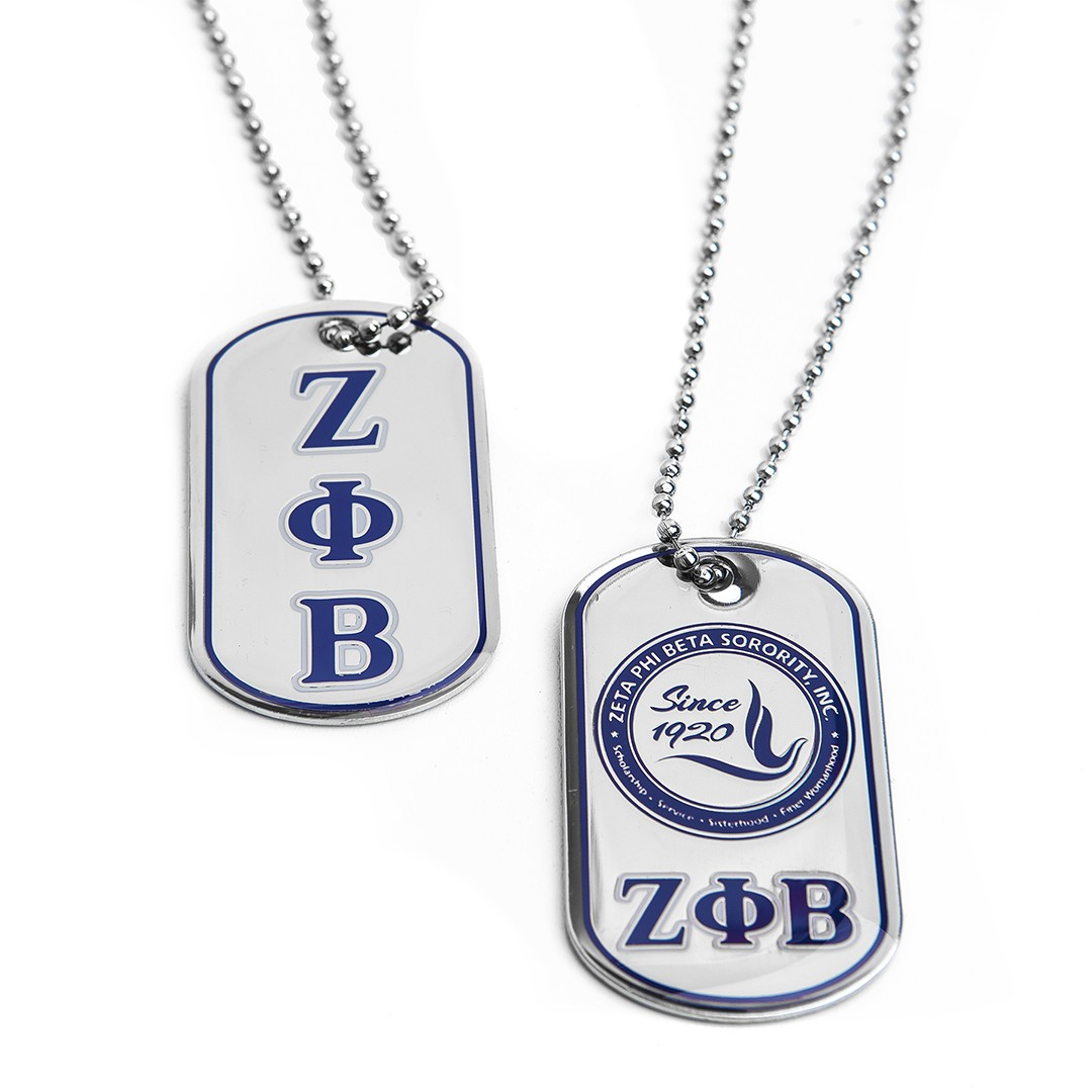 Zeta Phi Beta Dog Tag