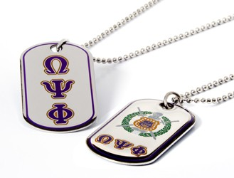 Omega Psi Phi jewelry Dog Tags