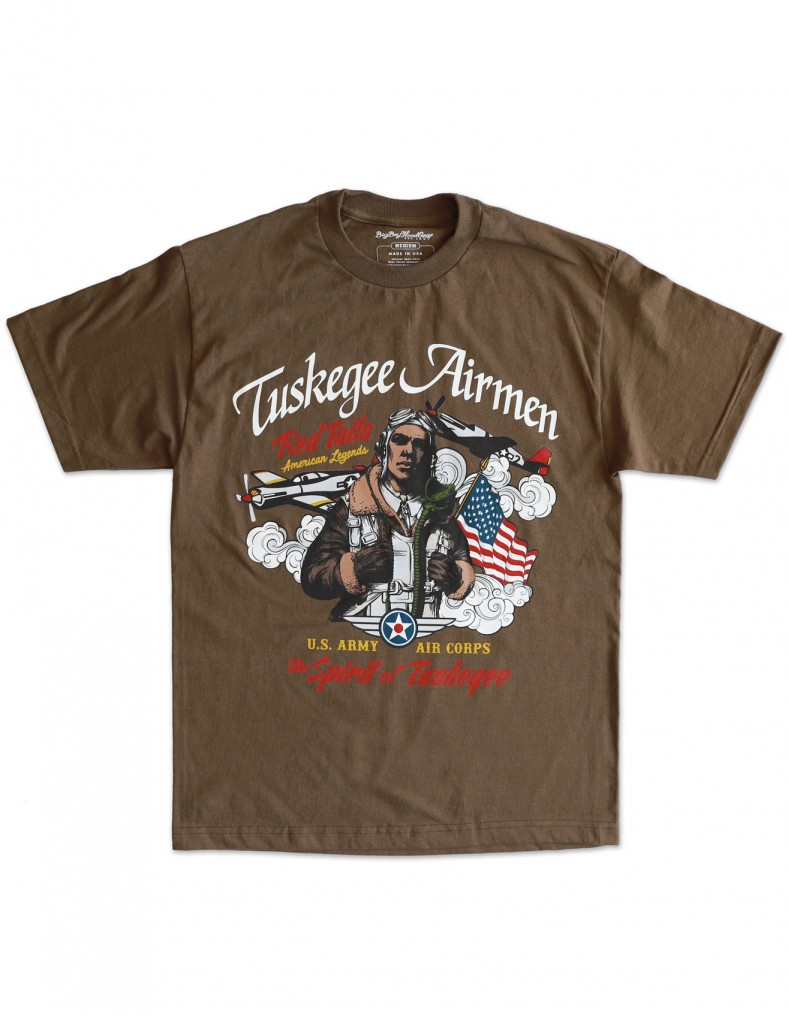 Tuskegee Airmen apparel - T Shirt - Brown