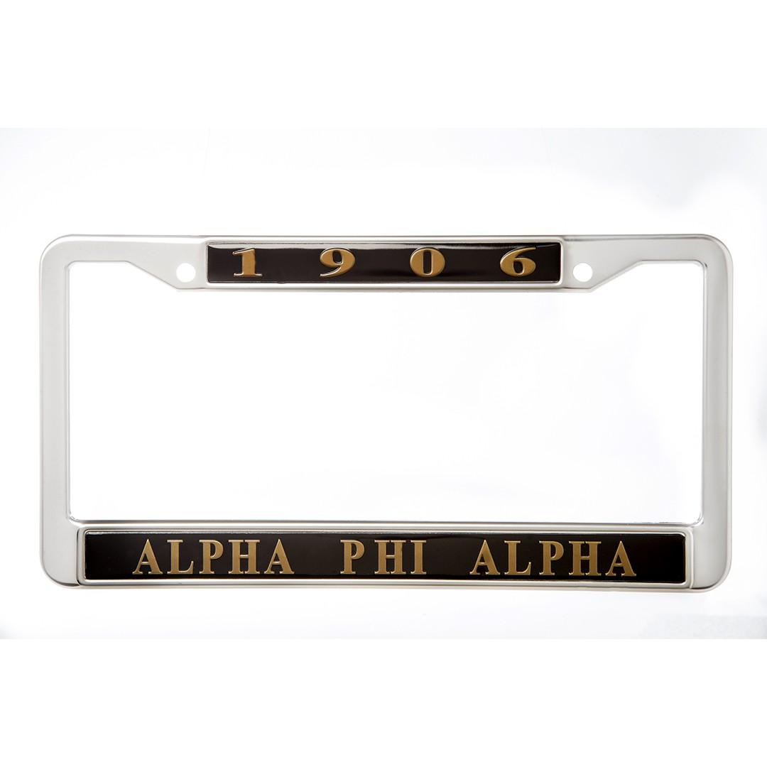 Alpha Phi Alpha gifts auto accessories Metal License Frame