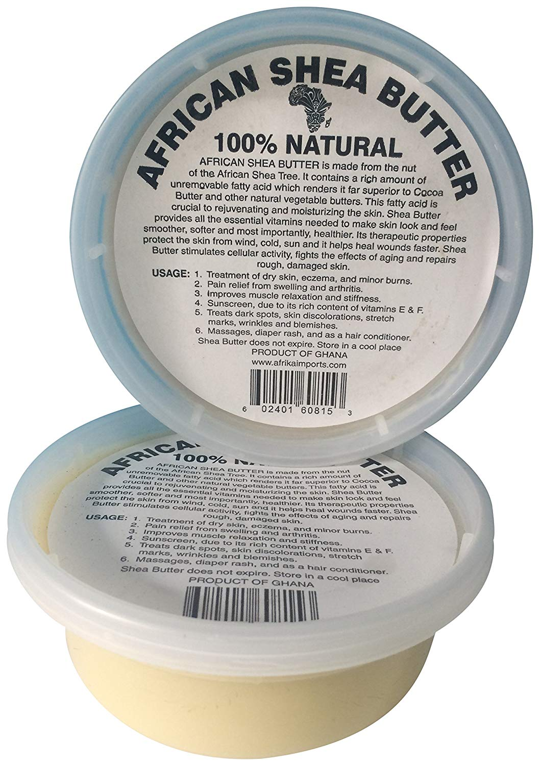 African Shea Butter Raw, 8 oz, White, Pack Of 12
