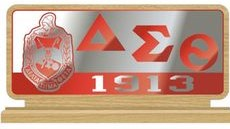 Delta Sigma Theta Wood work Desk Top Letters