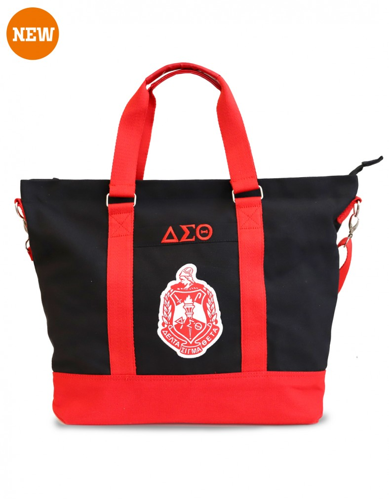 Delta Sigma Theta Bag Canvas black