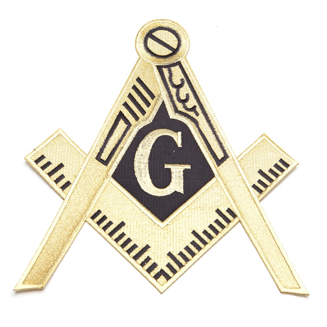 Masonic Shield Patches 10 Inches