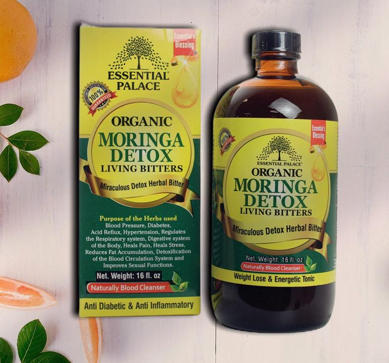 All Natural Moringa Detox Bitters - 16 oz.