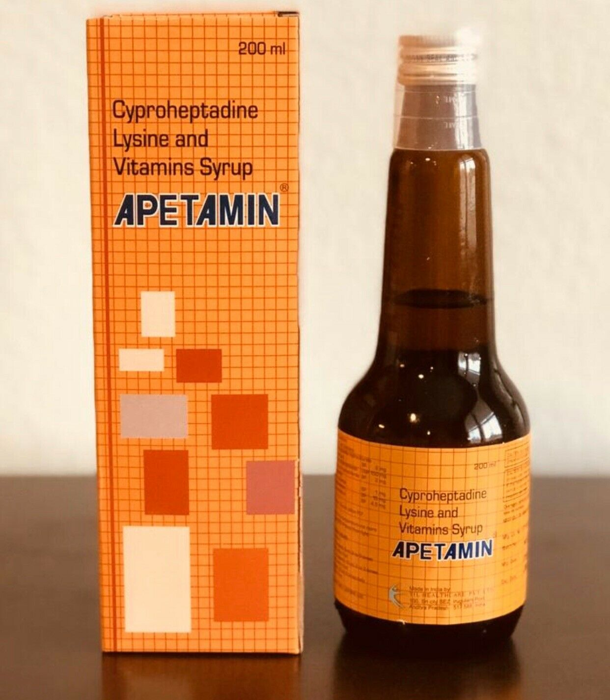 Apetamin Vitamin Weight Gain Appetite Syrup 200 ml Bottle 1 PACK