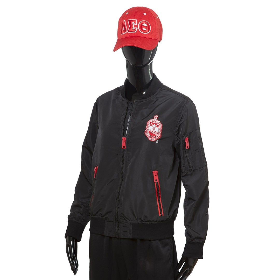 Delta Sigma Theta Apparel Elite Satin Bomber Jacket
