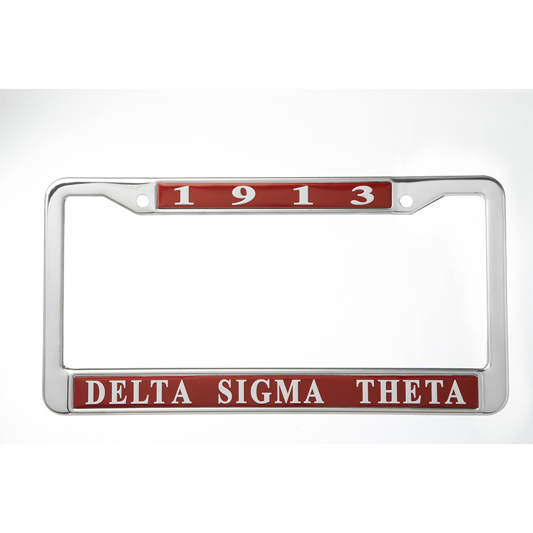 Delta Sigma Theta Vehicle License Frame Red