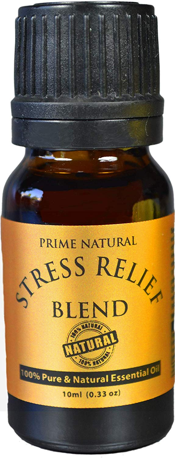 10 ml. Natural Stress Relief Essential Oil Blend