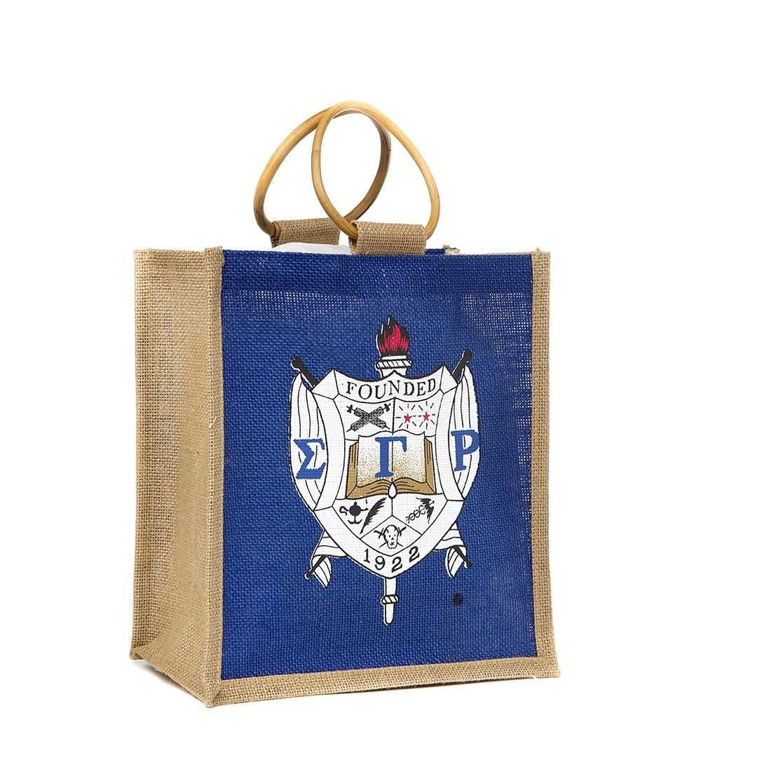 Mini Pocket Jute Shield bag - Sigma Gamma Rho