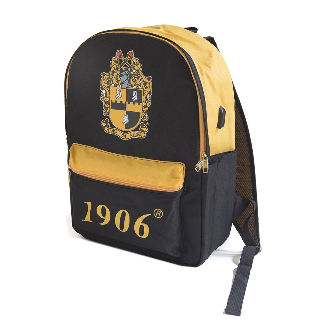 Alpha Phi Alpha Bag USB Port Backpack