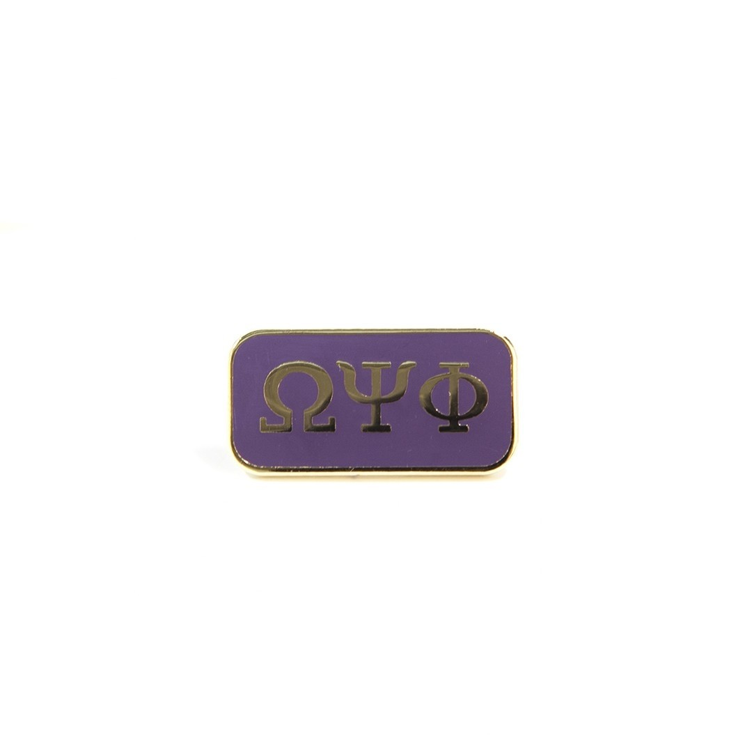 Omega Psi Phi Jewelry 3 letter lapel pin