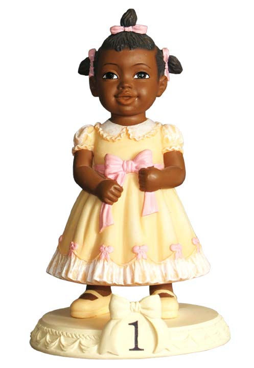 Black Birthday Girl Figurines