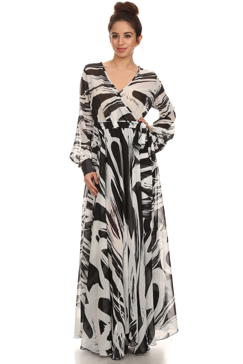 """All Eyes On Me Collection- Chiffon V neck wrap dress"""