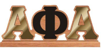 Alpha Phi Alpha gifts collectibles Alpha Phi Alpha Desktop Lette