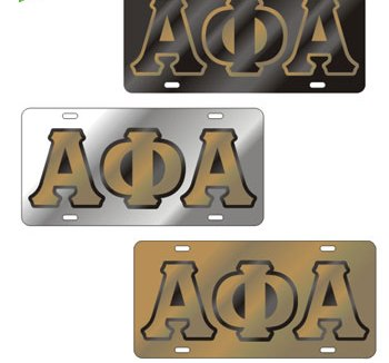 Alpha Phi Alpha auto accessories Outlined Mirror License P