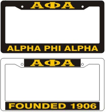 Alpha Phi Alpha gifts auto accessories Plastic License Plate F
