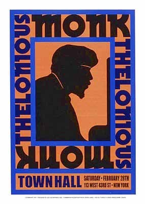 Thelonious Monk : Town Hall NYC; 1959