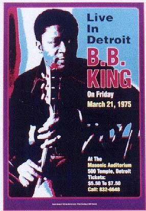 B.B. King; Masonic Auditorium; Detroit; 1974 - Art print