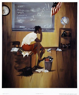 5th Grade Substitute - Art Print