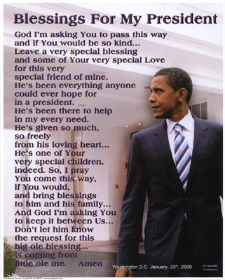Blessings for My President (Obama)