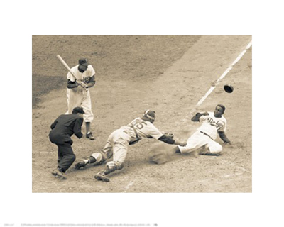 Jackie Robinson Stealing Home; May 18; 1952