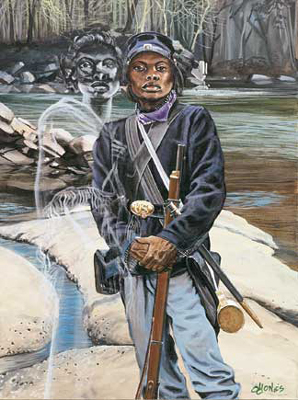 Female Buffalo Soldier