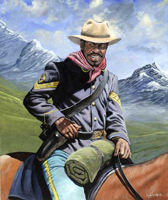Collectibles - Buffalo Soldier on Patrol - Art Print
