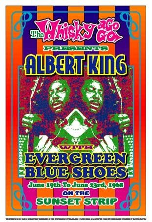 Albert King; 1968: Whisky-A-Go-Go; Los Angeles - Art print