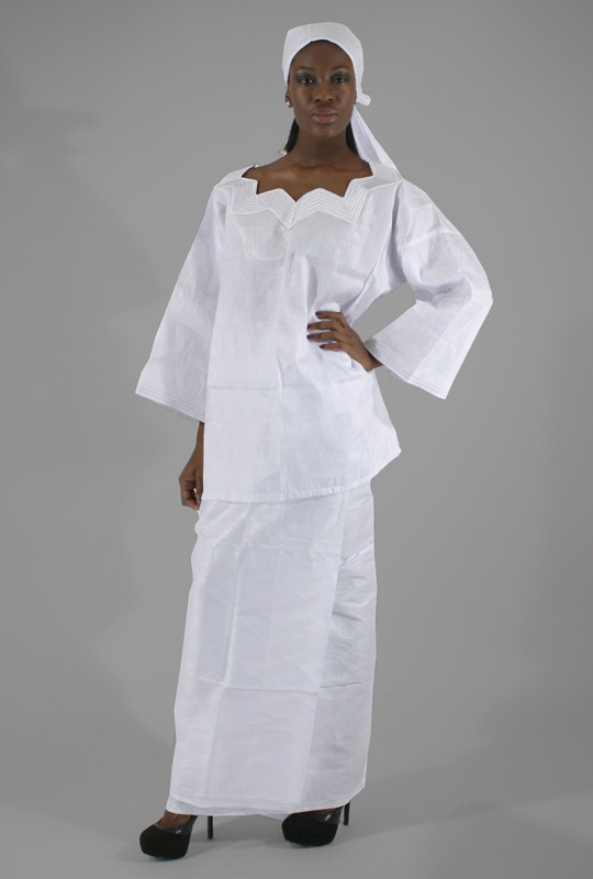 """Women's Skirt Set with White Embroidery"""