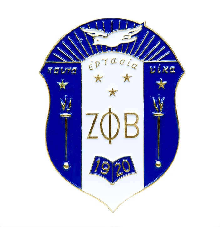Zeta Phi Beta vehicle Die Cut Car Badge
