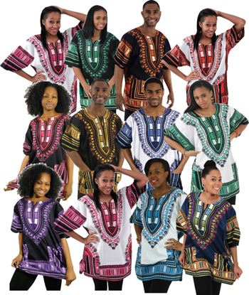 Dashiki Shirts for Male and Female