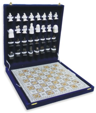 CHESS SET-Egyptian Mother Of Pearl Chess Set