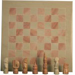 CHESS SET-SOAPSTONE CHESS SET NATURAL