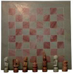 CHESS SET-SOAPSTONE CHESS SET NATURAL 16