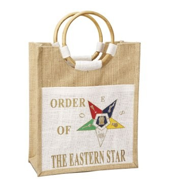 Order Of The Eastern Star Bag Mini Pocket Jute Bag