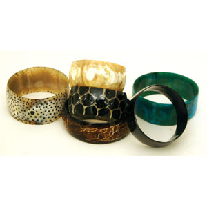 Cow Horn Bracelet - Assorted Colors