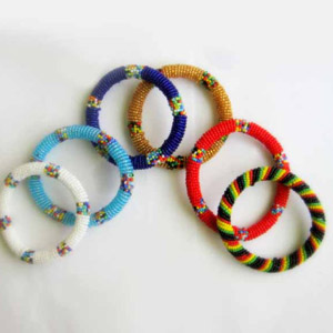 Massai Beaded Bracelets - Round